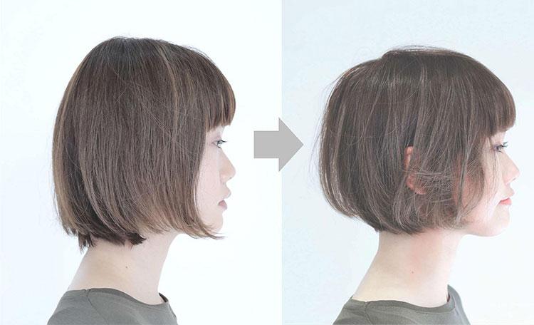 小顔補正立体カットの特徴と効果の画像